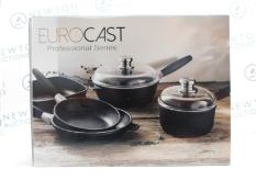 1 NEW BOXED BERGHOFF EUROCAST COOKWARE 5 PIECE SET CONSISTING OF 28CM FRY PAN, 24CM FRY PAN, 24CM