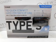 1 BOXED TYPE S HD QUICK-CONNECT WIRELESS BACKUP CAMERA RRP £139