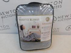 1 BAGGED SLEEP PHILOSOPHY GREY WEIGHTED BLANKET (122 X 183 CM, 6.8KG) RRP £79.99