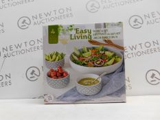 1 BOXED EASY LIVING 4PC (APPROX) SERVING SET RRP £29.99