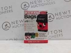 1 BRAND NEW BOX OF 10 NUMATIC NVM-1CH HIGH EFFICIENCY FILTER BAGS RRP £14.99