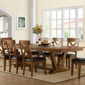 1 BAYSIDE FURNISHINGS 9 PIECE EXTENDABLE DINING SET INCLUDES 1 TABLE AND 8 CHAIRS RRP £999 (GENERIC