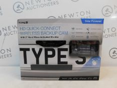 1 BOXED TYPE S SOLAR POWERED HD QUICK-CONNECT WIRELESS REVERSE PARKING CAMERA RRP £149