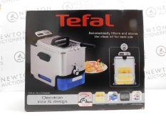 1 BOXED TEFAL FR8040 OLEOCLEAN PRO INOX & DESIGN DEEP FRYER RRP £129.99 (POWERS ON, EXCELLENT