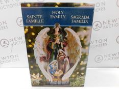 1 BOXED 18 INCH (45.7 CM) RESIN HOLY FAMILY AND ANGEL TABLE TOP DECORATION RRP £79.99