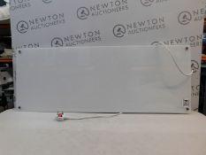 1 MILL HEAT 1.2KW ELECTRIC WIFI CONTROLLED GLASS FRONT PANEL HEATER IN WHITE, AV1200WIFI RRP £149
