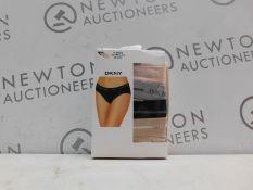 1 BOXED PACK OF 3 DKNY SEAMLESS BIKINI SIZE S RRP £39.99