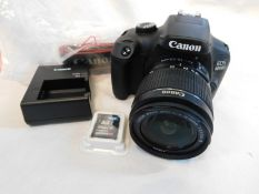 1 CANON 4000D DSLR CAMERA KIT COMES WITH 18-55MM LENS RRP £399.99