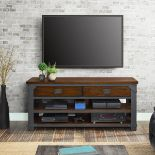 "1 BOXED BAYSIDE FURNISHINGS 3-IN-1 TV STAND FOR FLAT-PANEL TVS UP TO 65"" AND 61.3KG RRP £199 ("