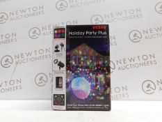 1 BOXED ION HOLIDAY PARTY PLUS MULTI-COLOR INDOOR/OUTDOOR PROJECTED LIGHT RRP £49