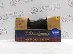 1 BOXED PAIR OF DEARFOAMS MENS SIZE S MEMORY FOAM SLIPPERS RRP £34.99