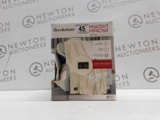 1 BOXED BROOKSTONE HEATED THROW 127 X 152 CM RRP £44.99