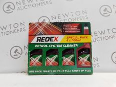 1 BOXED SET OF 4 REDEX FUEL SYSTEM CLEANER PETROL INJECTOR RRP £24.99