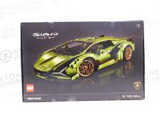 1 BOXED LEGO 42115 TECHNIC LAMBORGHINI SIÁN FKP 37 RACE CAR, ADVANCED BUILDING SET FOR ADULTS,