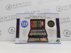 1 BOXED ART 101 ARTISTS SUITE 128PC (APPROX) PAINTING AND DRAWING SET RRP £79.99