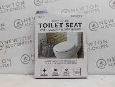1 BOXED TAVISTOCK HUSH SOFT CLOSE QUICK RELEASE TOILET SEAT RRP £39.99