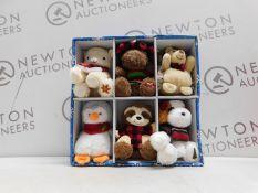 1 NEW BOXED HUGFUN 4 INCH (11 CM) PLUSH ORNAMENT CHRISTMAS TREE DECORATIONS RRP £29