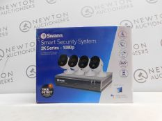 1 BOXED SWANN 8 CHANNEL SECURITY SYSTEM: 1080P FULL HD DVR-4575 WITH 1TB HDD & 4 X 1080P THERMAL