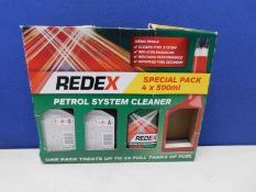 1 BOXED SET OF 3 REDEX FUEL SYSTEM CLEANER PETROL INJECTOR RRP £24.99