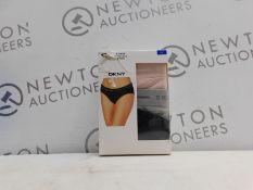 1 BOXED DKNY 3PK SEAMLESS BIKINI SIZE L RRP £29.99
