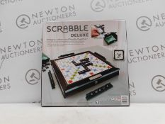 1 BOXED SCRABBLE DELUXE BOARD GAME RRP £49