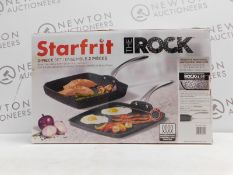 1 BOXED STARFRIT THE ROCK GRILL PAN & GRIDDLE SET RRP £64.99