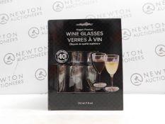1 BOXED ARGENTIA RIDGE 40 PACK ELEGANT DISPOSABLE WINE GLASSES RRP £29