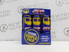 1 BOXED WD-40 MULTI-PURPOSE LUBRICANT SPRAY SMART STRAW 450ML TRIPLE PACK RRP £29