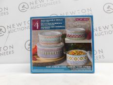 1 BOXED SIGNATURE BOWLS & LIDS 4PC (APPROX) RRP £39