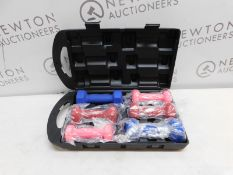 1 QUICKPLAY 6KG FITNESS DUMBELLS HAND WEIGHTS SET WITH CARRY CASE RRP £39