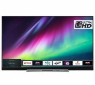 """1 TOSHIBA 49"""" 49U7863DBC 4K ULTRA HD LED SMART TV WITH STAND AND REMOTE RRP £599 (WORKING, BUT NO"""
