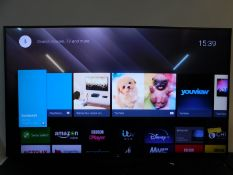 """1 SONY 55"""" KD-55XD8599 4K ULTRA HD 3D LED SMART TV WITH REMOTE RRP £899 (WORKING, HAS A DEEP"""