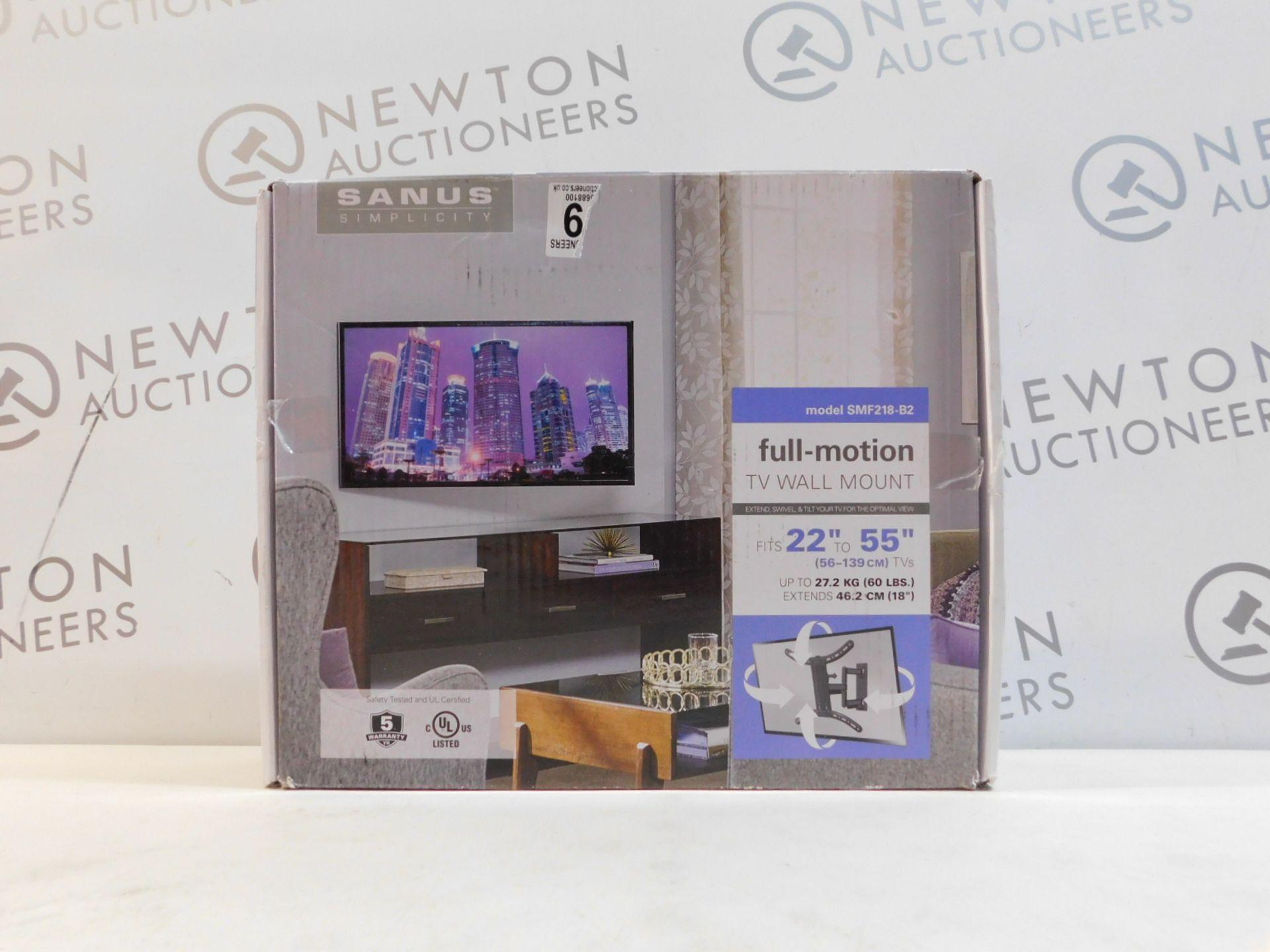"1 BOXED SANUS 22""-55"" FULL MOTION TV WALL MOUNT RRP £89.99"