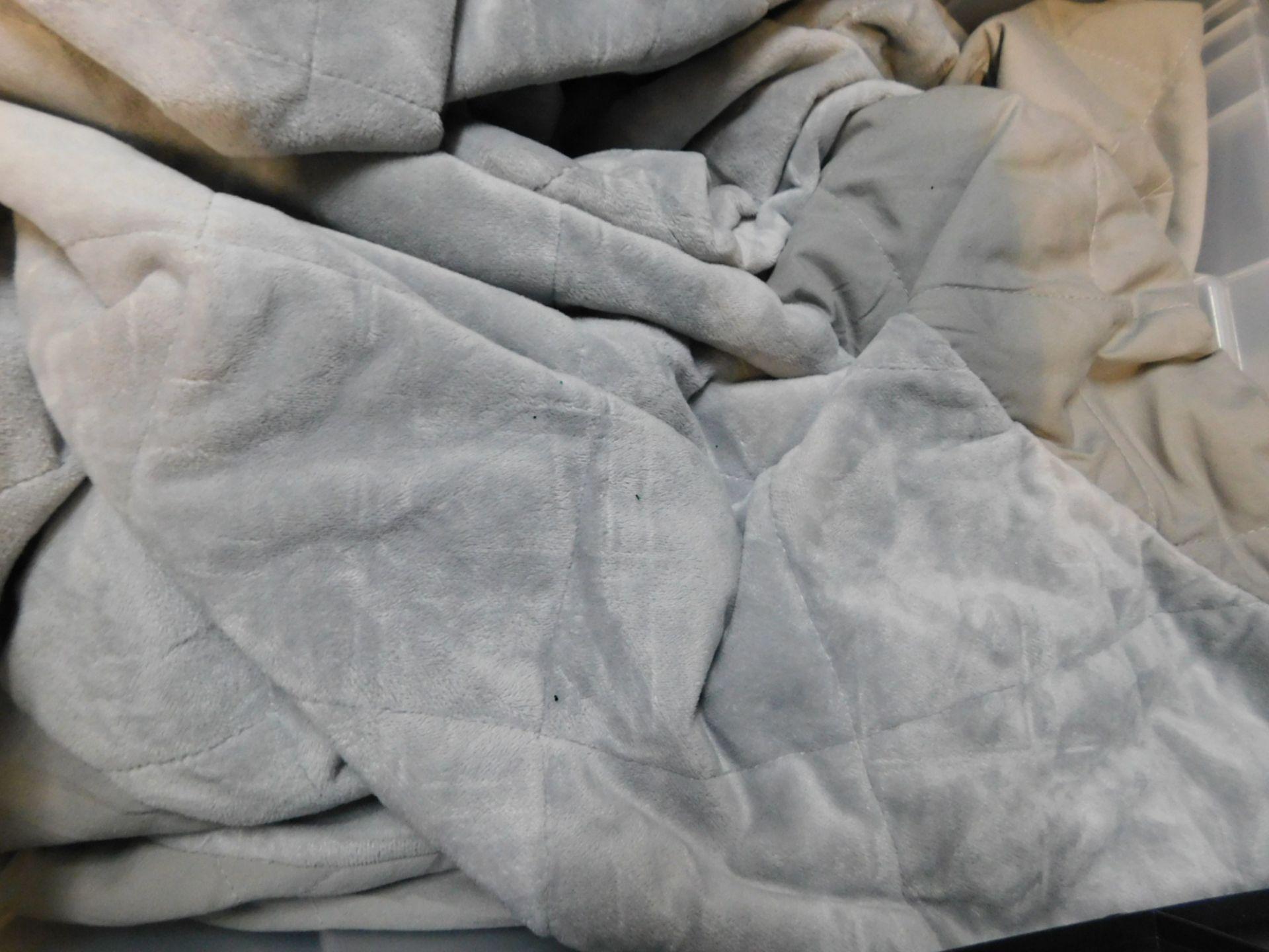 """1 SLEEP PHILOSOPHY REVERSIBLE GREY WEIGHTED BLANKET (48"""" X 72"""") RRP £79.99"""