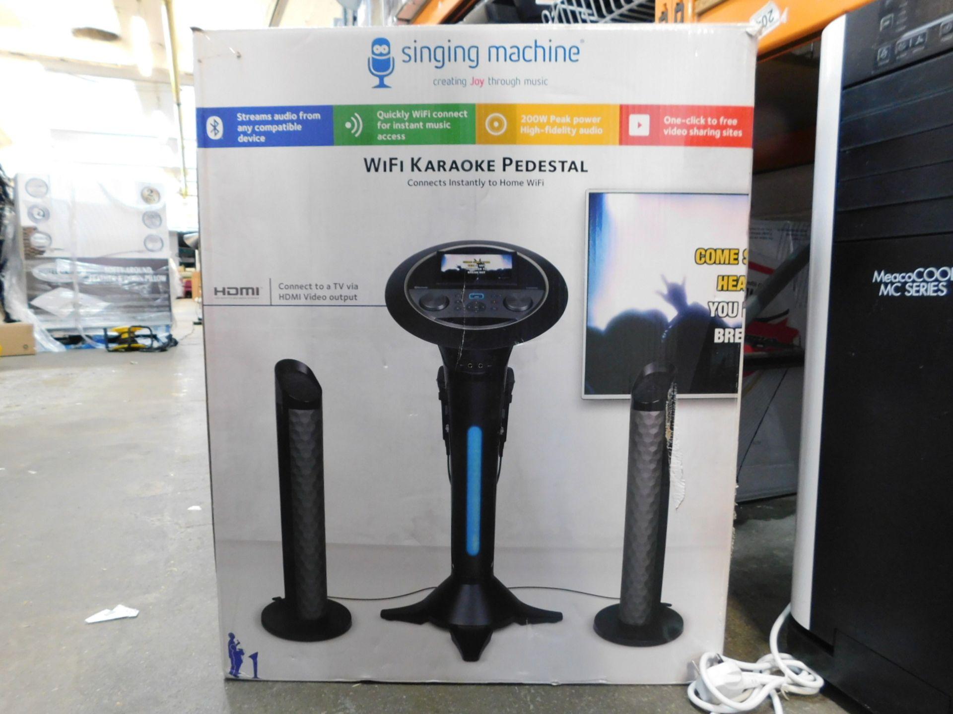 1 BOXED SINGING MACHINE WIFI KARAOKE PEDESTAL RRP £299.99