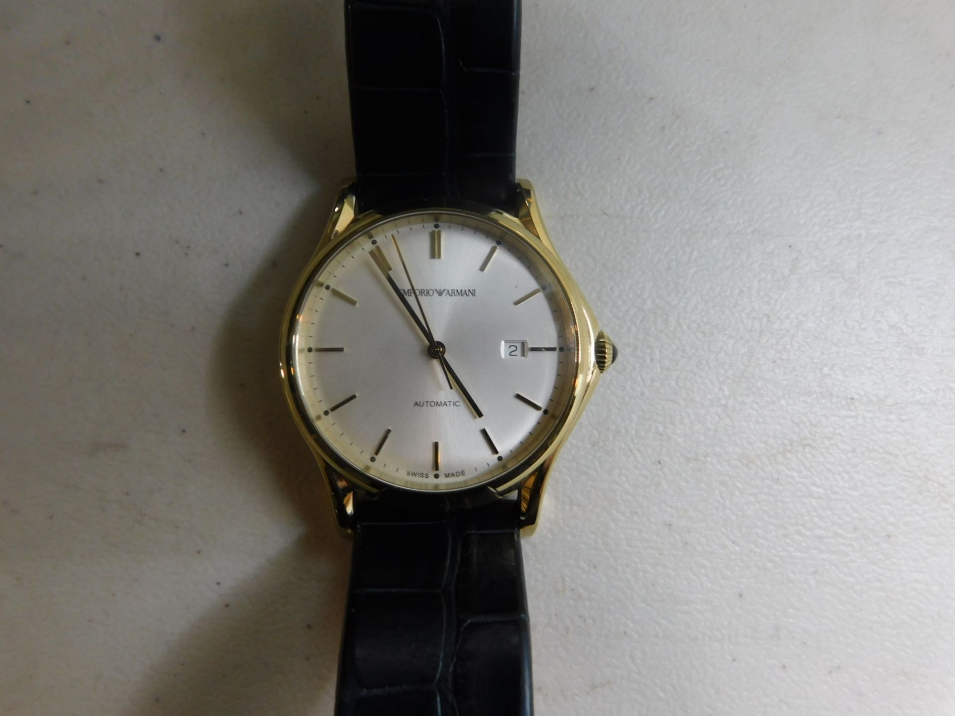 1 EMPORIO ARMANI SWISS MADE GOLD GENTS WATCH MODEL ARS3019 RRP £600