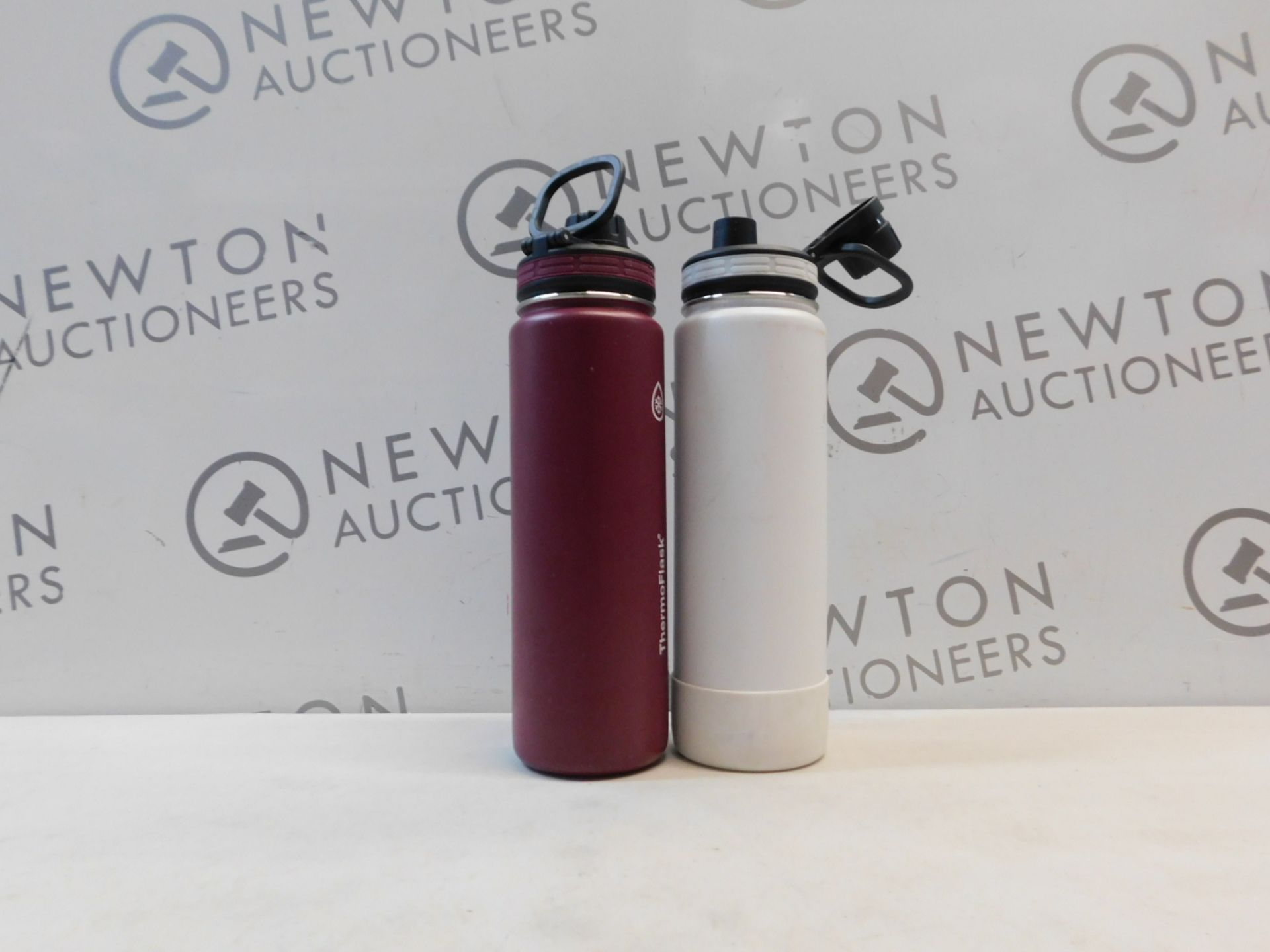1 SET OF 2 TAKEYA THERMOFLASK INSULATED STAINLESS STEEL 1.1L WATER BOTTLES RRP £39.99 (1 LID