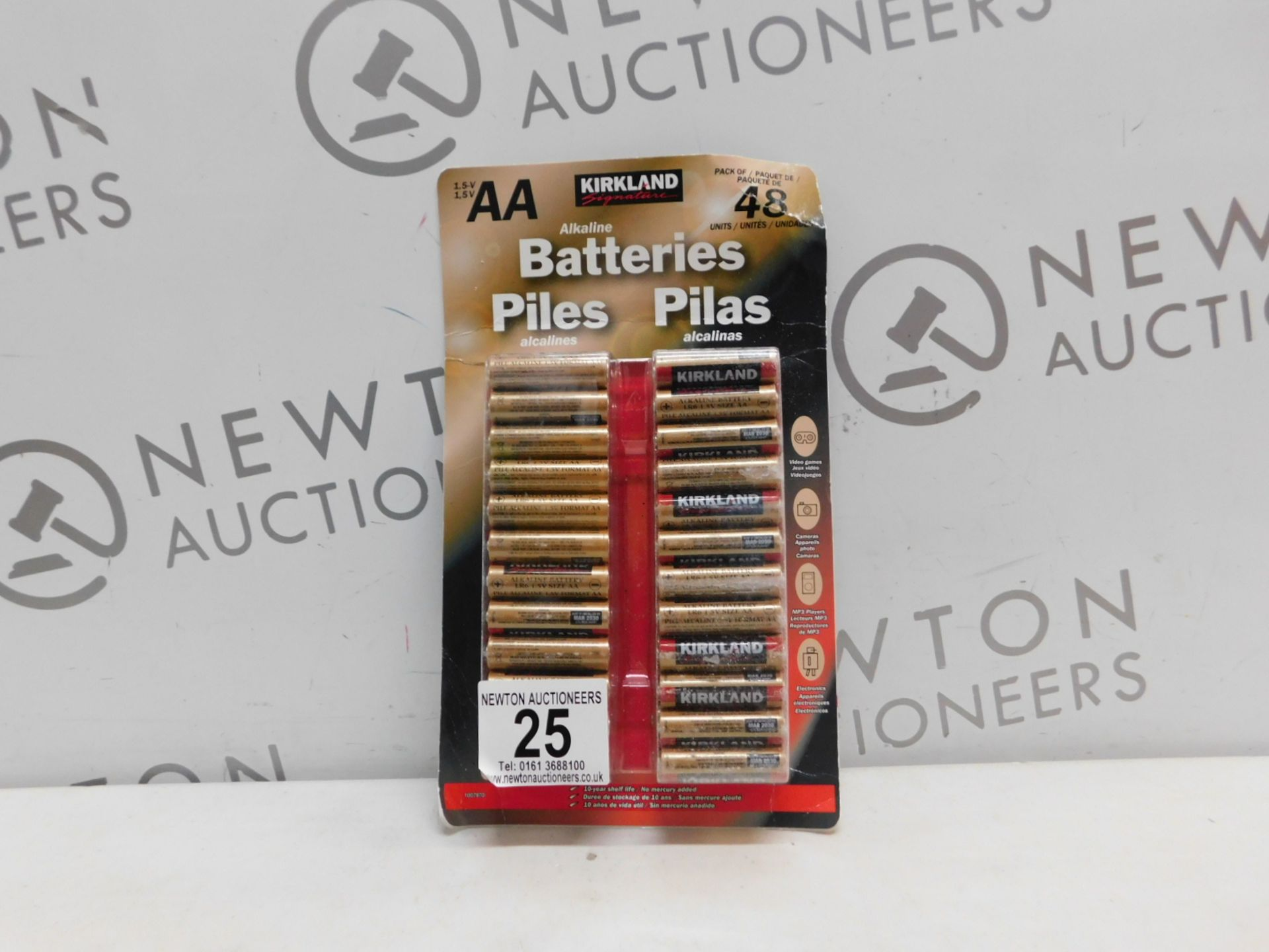 1 PACK OF 48 (APPROX) KIRKLAND SIGNATURE AA 1.5V ALKALINE BATTERIES RRP £24.99
