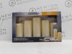 1 BOXED SET OF 5 COLOUR CHANGING LED WAX CANDLES WITH REMOTE CONTROL RRP £27.99