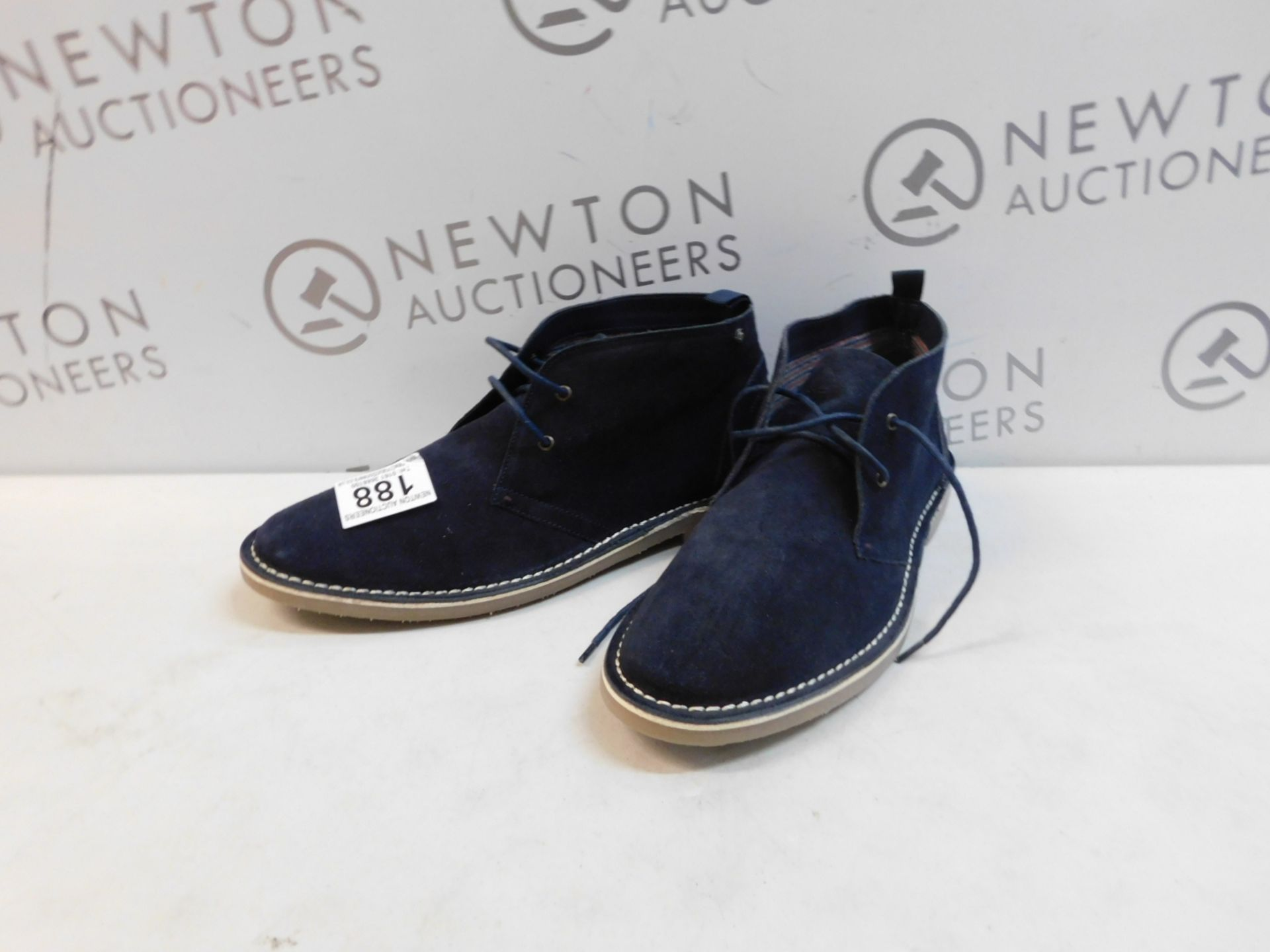 1 PAIR OF BEN SHERMAN SUEDE LEATHER SHOES UK SIZE 12 RRP £69 (BOTH LEFT FOOT)