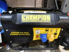 1 CHAMPION 196CC CPG3500 50HZ 120/240V PETROL GENERATOR RRP £349.99 (DAMAGED ON FRONT)