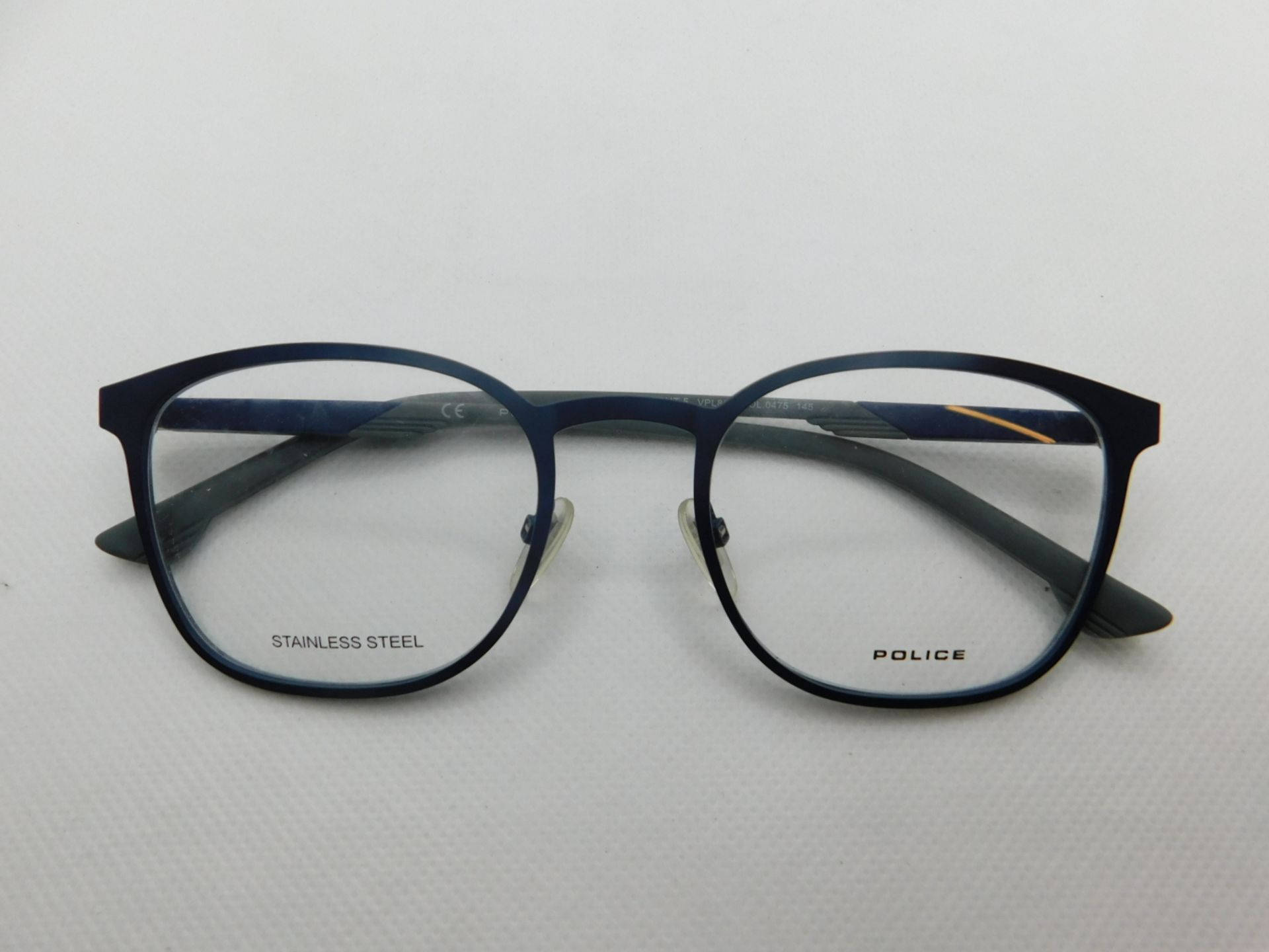1 PAIR OF POLICE GLASSES FRAME AND CASE MODEL VPL801 RRP £99.99