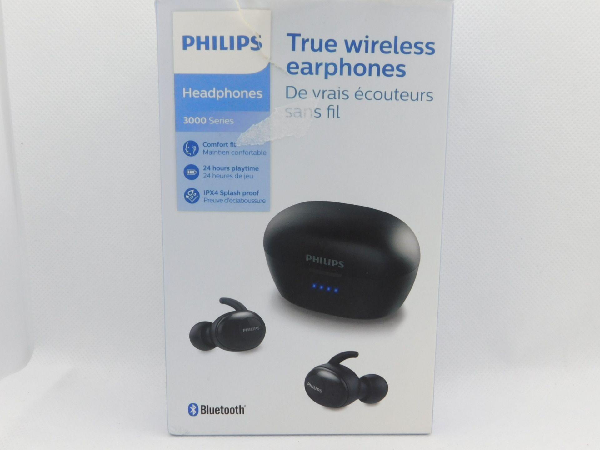 1 BOXED PHILIPS TRUE WIRELESS EARPHONES 3000 SERIES RRP £79.99