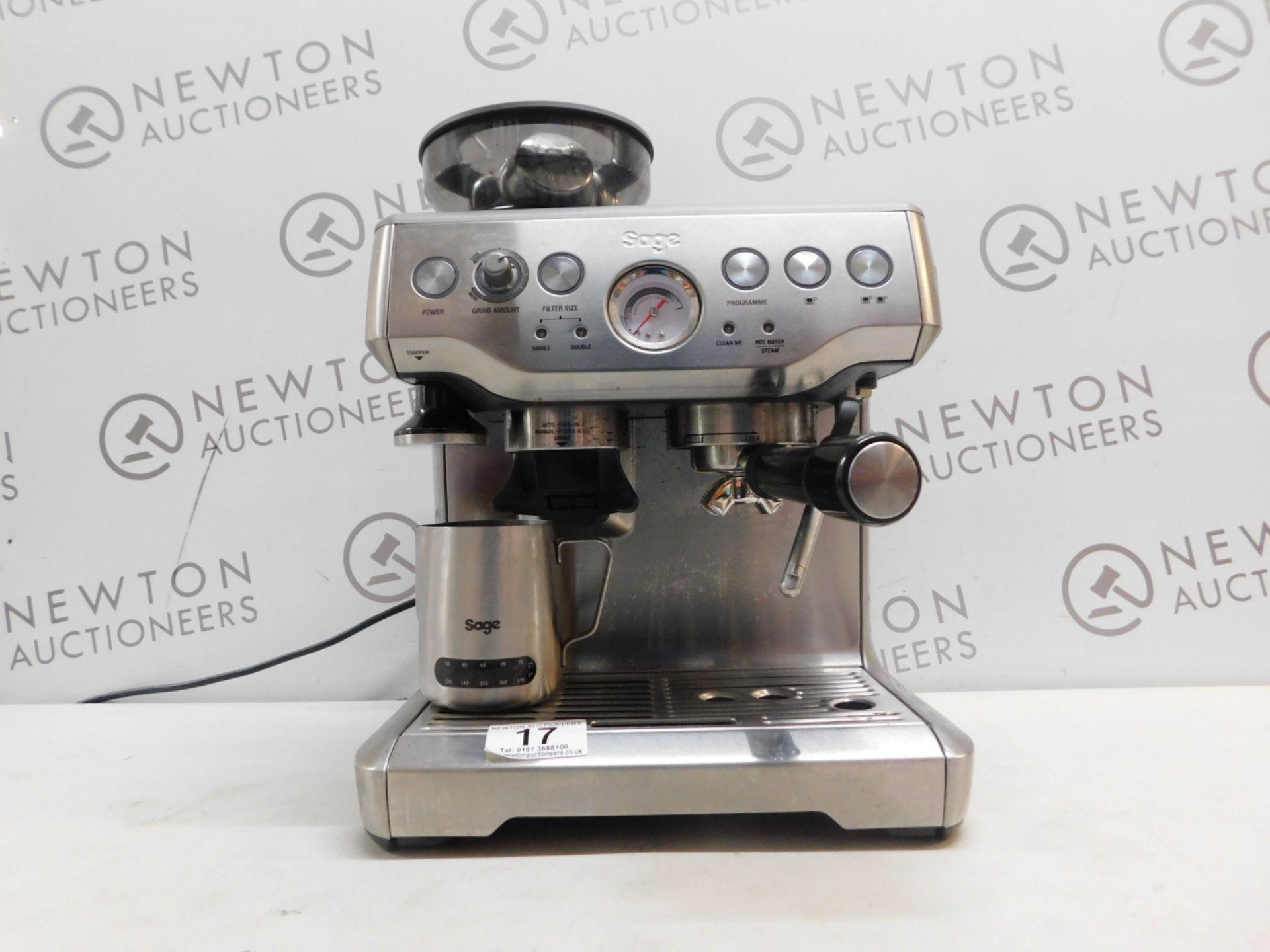1 SAGE BARISTA EXPRESS BES870UK BEAN TO CUP COFFEE MACHINE RRP £599.99