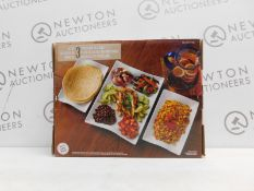 1 BOXED OVER & BACK AMELIA 3 PIECE SERVING PLATTER RRP £29