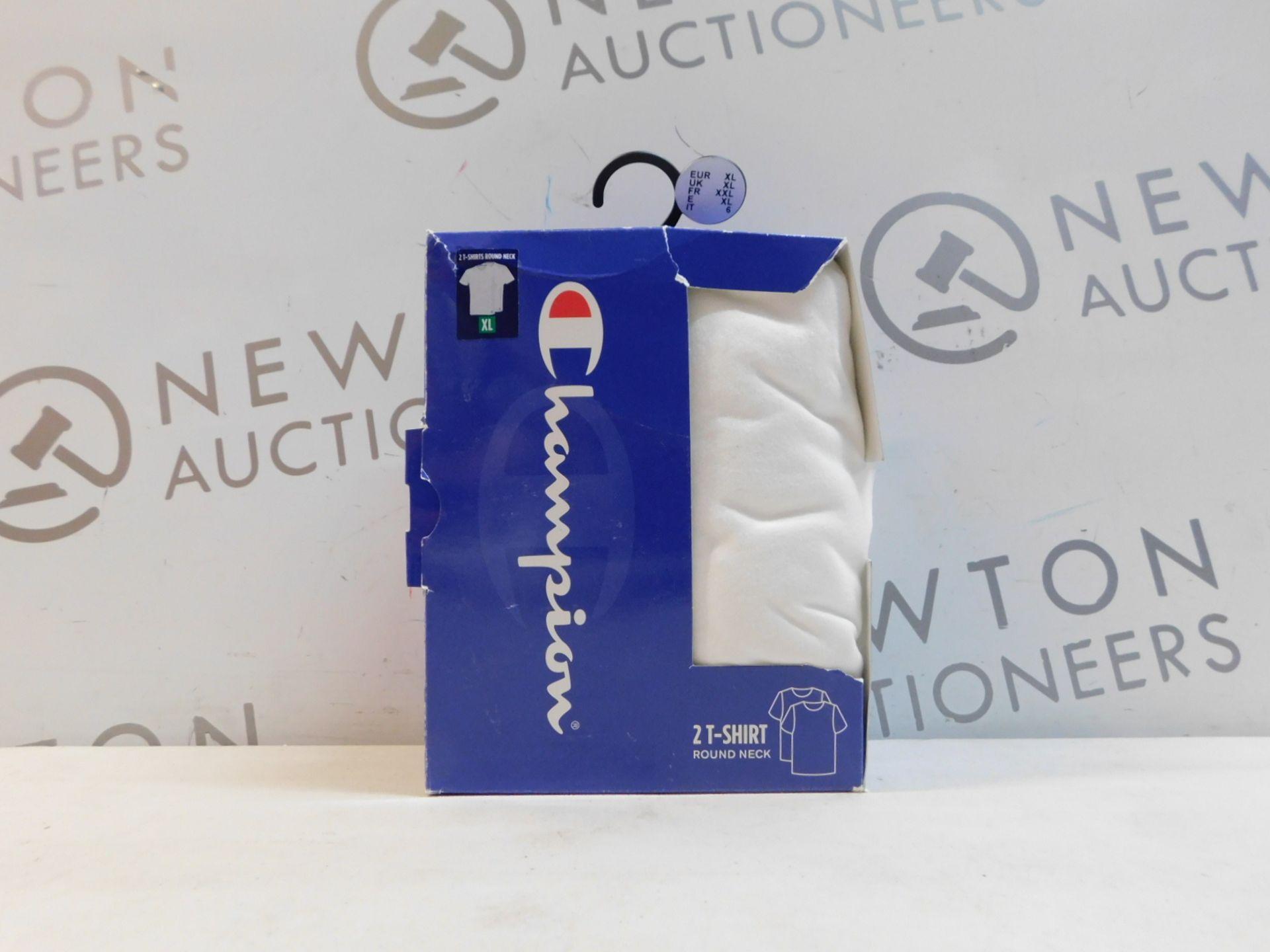 1 BOXED SET OF 2 CHAMPION WHITE T-SHIRTS SIZE XL RRP £15
