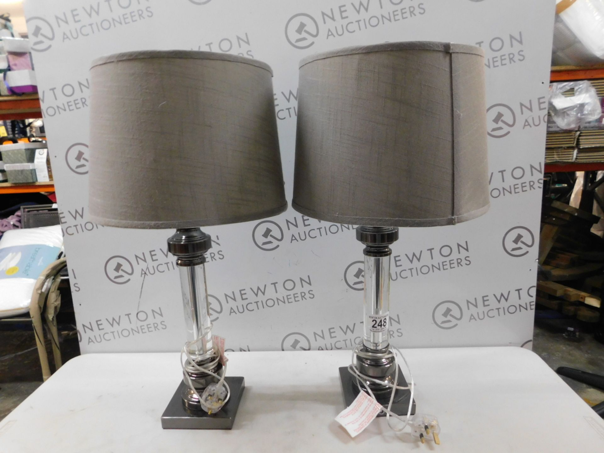 1 PAIR OF UTTERMOST SAM CRYSTAL TABLE LAMPS RRP £99
