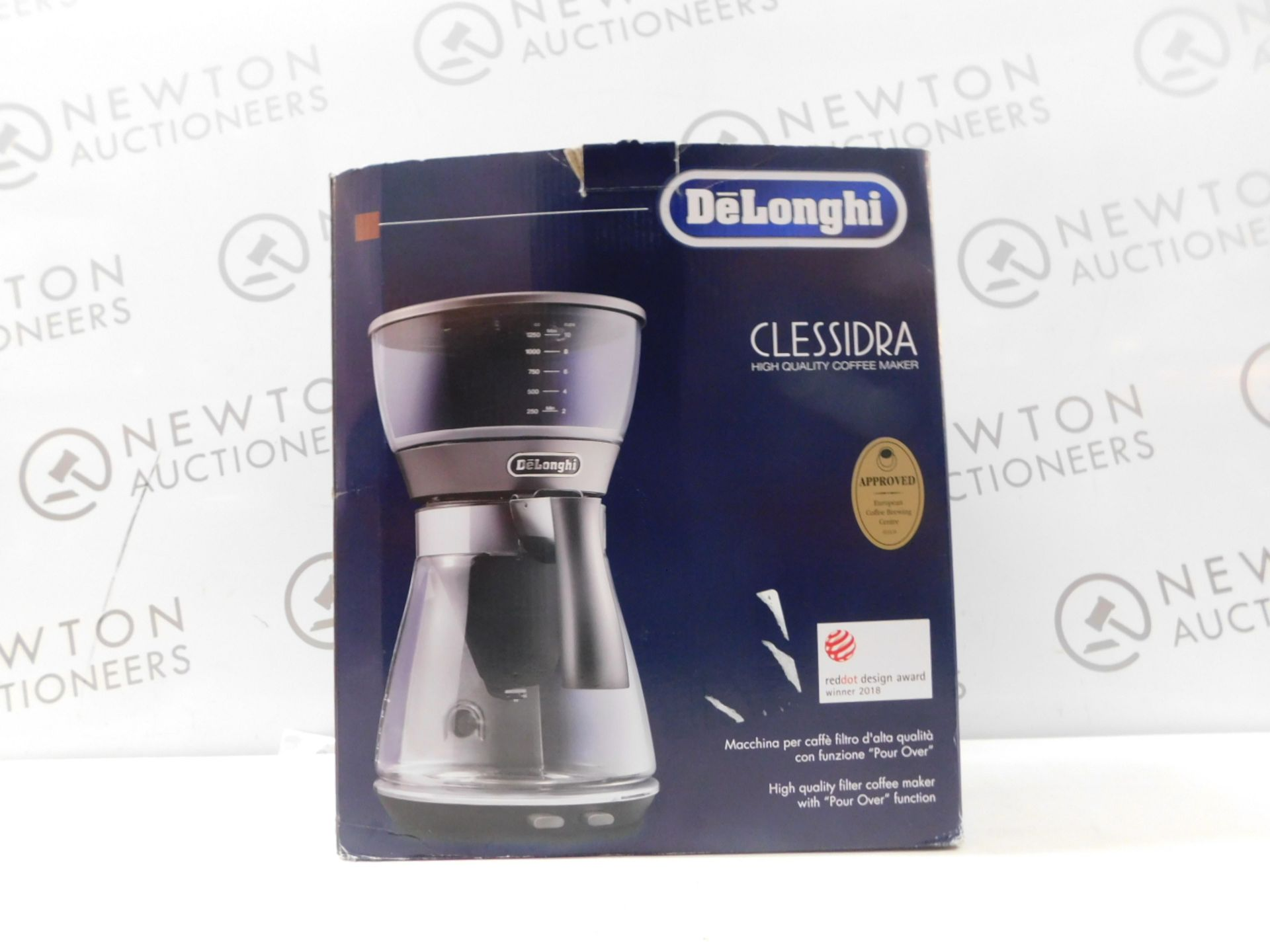1 BOXED DELONGHI CLESSIDRA ICM17210 FILTER COFFEE MACHINE RRP £159 (POWERS ON)
