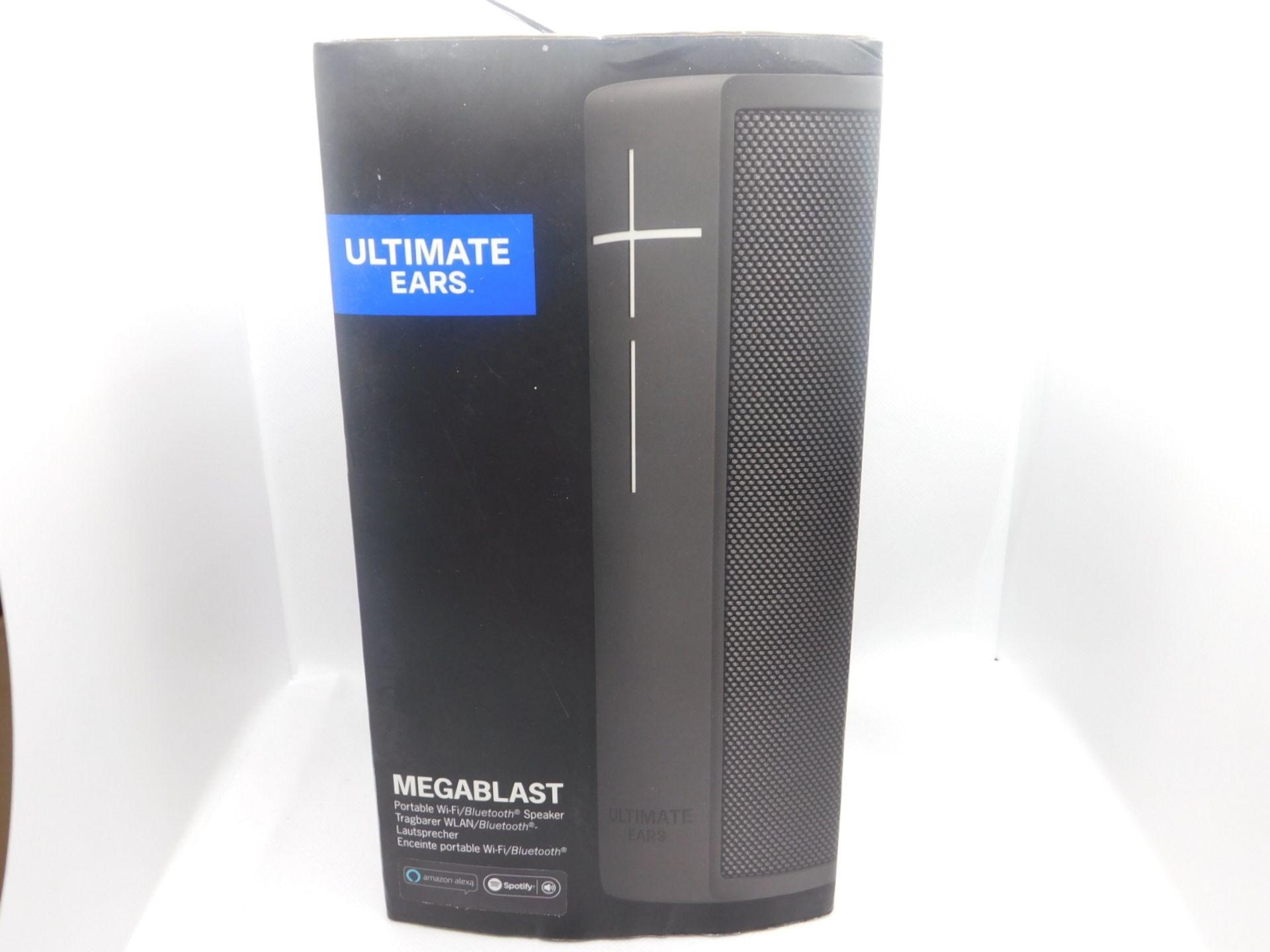 1 BOXED ULTIMATE EARS MEGABLAST PORTABLE BLUETOOTH SPEAKER WITH AMAZON ALEXA RRP £199