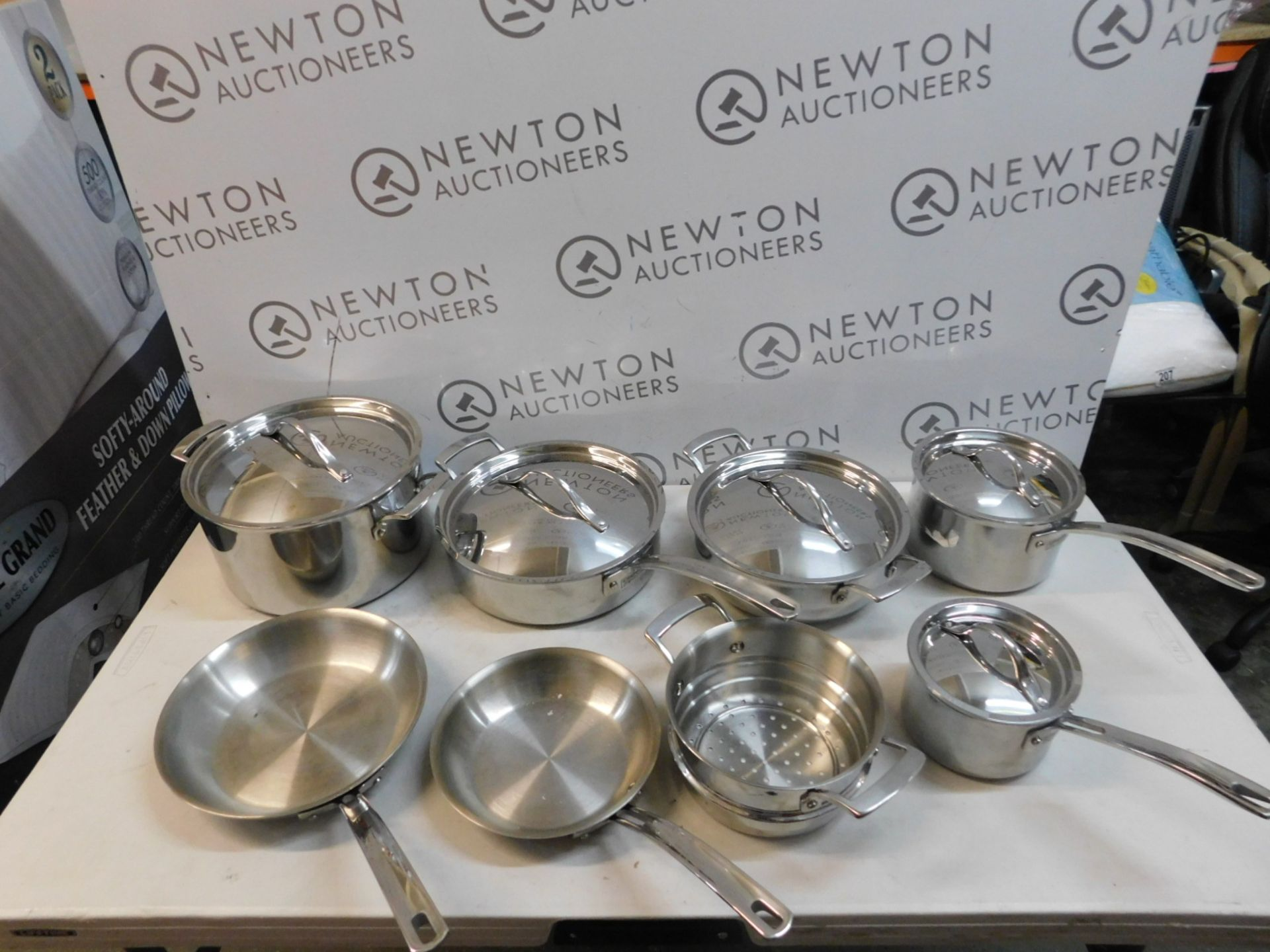 1 KIRKLAND SIGNATURE 10 PIECE (APPROX) 5-PLY CLAD STAINLESS STEEL COOKWARE SET RRP £249.99